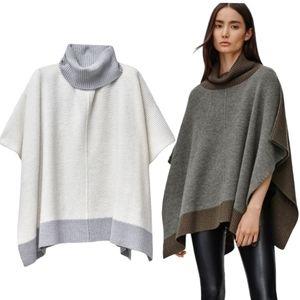 Aritzia Wilfred Free Wellsh Cape Poncho Sweater